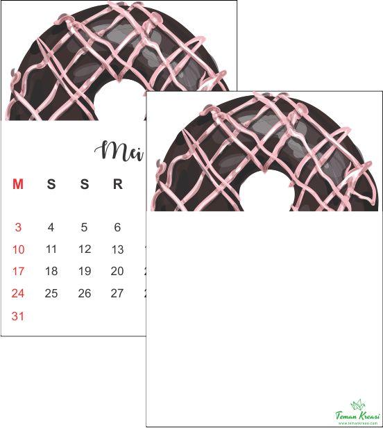 Desain Kalender 2020 Berbentuk Donat. Produk Digital ...
