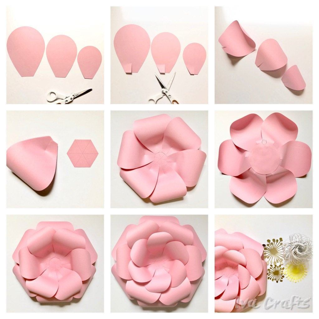 Cara Membuat Bunga Raksasa 3d Dari Kertas 1 Teman Kreasi